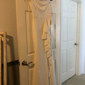 Lulus white off the shoulder formal gown